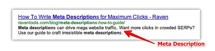 توضیحات متا در ترافیک سایت